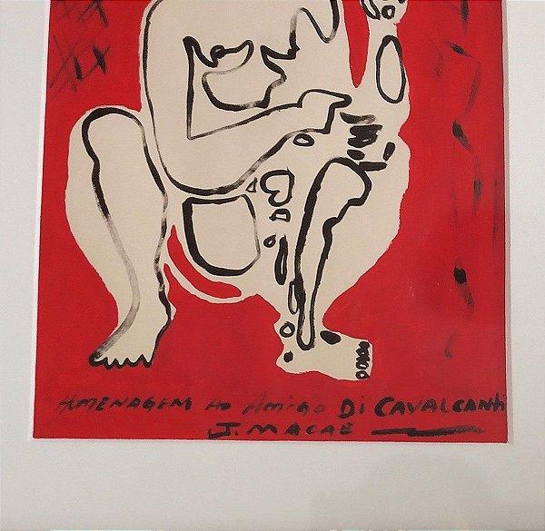 J. Macaé - Quadro, Arte, Desenho Homenagem a  Di Cavalcanti - Decoração
