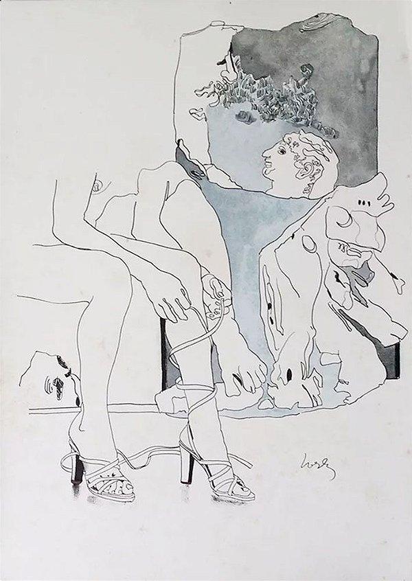 Wesley Duke Lee - Arte em Estampa, Gravura de Ensaio Filosófico, Leonardo Da Vinci