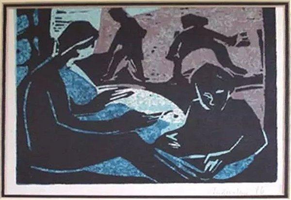 Andreatini - Quadro, Arte em Gravura Assinada, de 1986