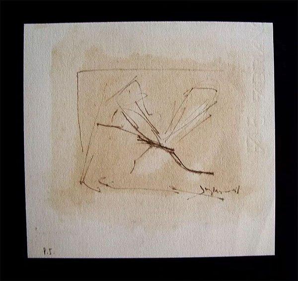 Juarez Magno - Arte em Gravura, Prova de Impressão, de 1981, Série Libélulas