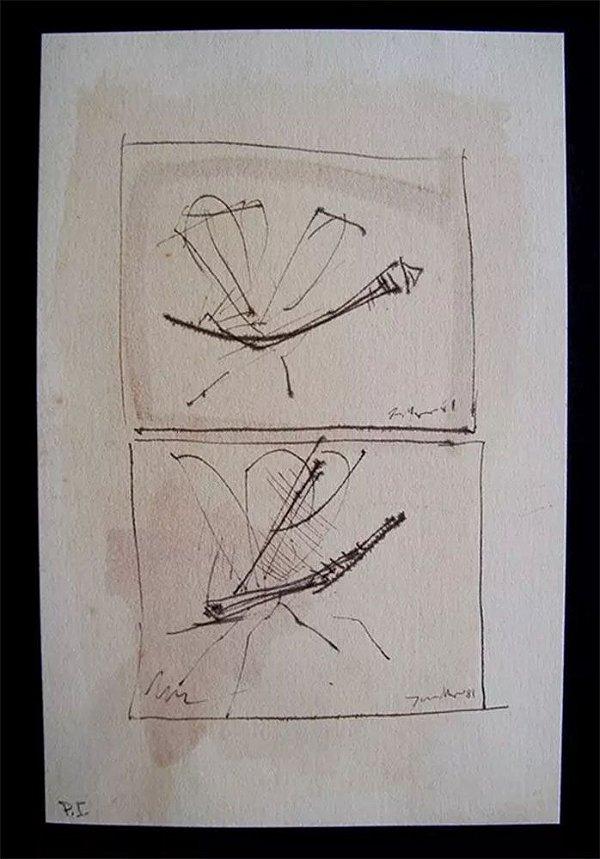 Juarez Magno - Arte em Gravura, Prova de Impressão, de 1981, Libélulas
