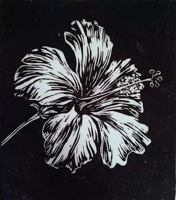Marianna Millenhoff - Arte em Gravura Original,  Técnica Linólio, Hibiscus