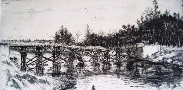 Edgard Cognat - Arte em Gravura Original Assinada na Chapa