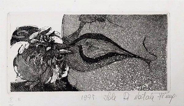 Iole Di Natale - Quadro, Arte em Gravura Original, Assinada, Série Pássaros