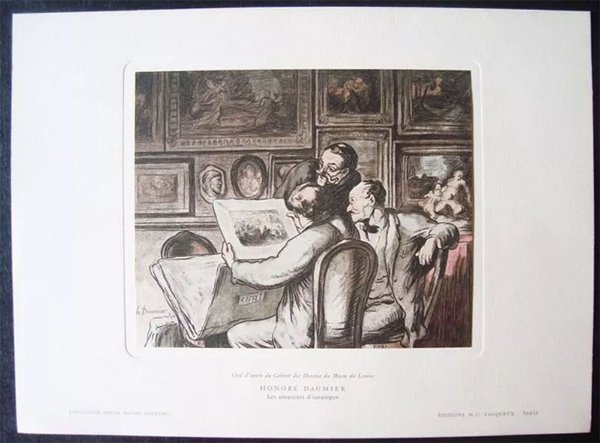 Quadro, Arte em Estampa Off-set Honoré Daumier - Collection Rhone-Poulec