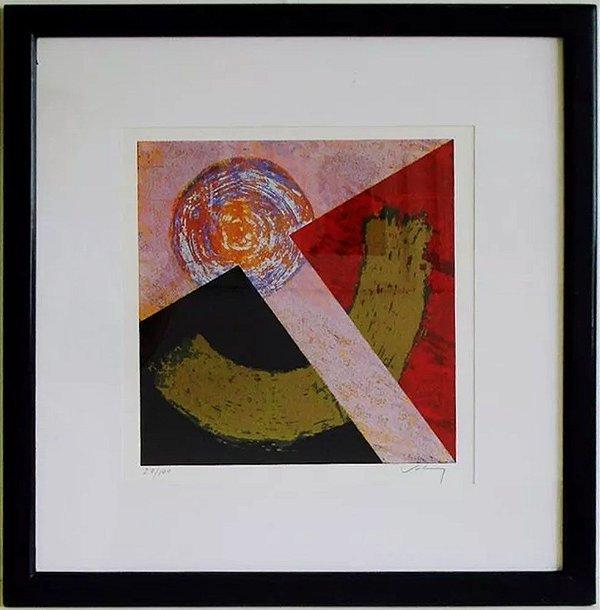 Abstrato - Quadro, Arte em Gravura Original, Assinada