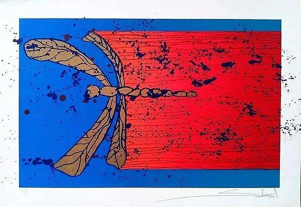 Gilberto Salvador - Arte em Gravura Prova de Artista, Assinada, Libélula