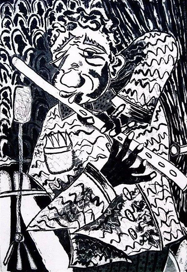 Boris Arrivabene -  Arte em Gravura, Assinada e  com Dedicatória