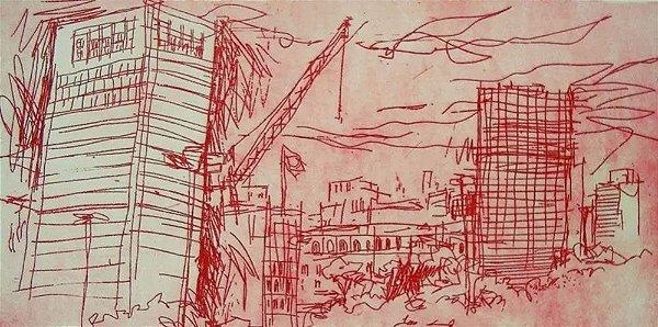 Paulo Von Poser - Arte em Gravura Assinada, Praça das Artes, São Paulo