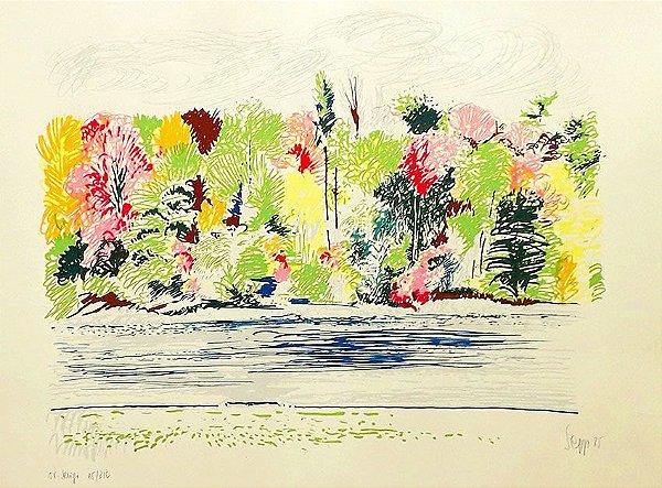 Sepp Baendereck - Arte em Gravura, Serigrafia Assinada, Temática Floral