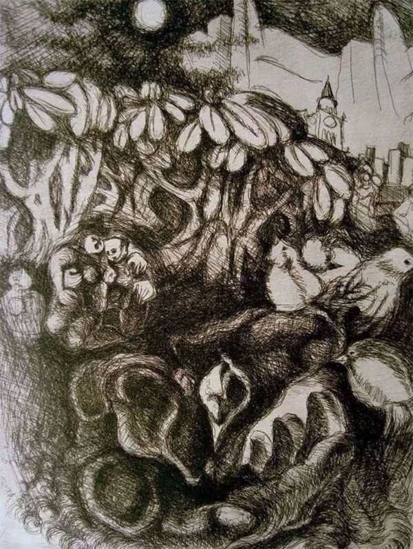 Iole Di Natale - Quadro, Arte em Gravura - Ao São Francisco, o Cotidiano de Minha Arte