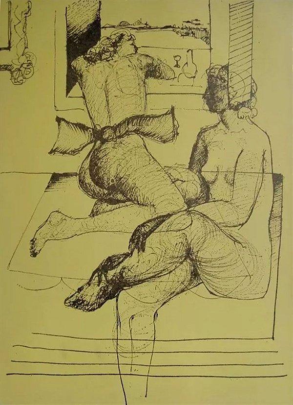 Ferenc Kiss - Quadro, Arte em Gravura Assinada, Prova de Artista