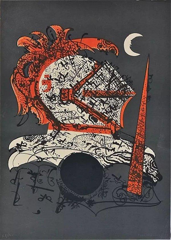 Fernando Odriozola -  Arte em Gravura Original, Guerreiro Medieval