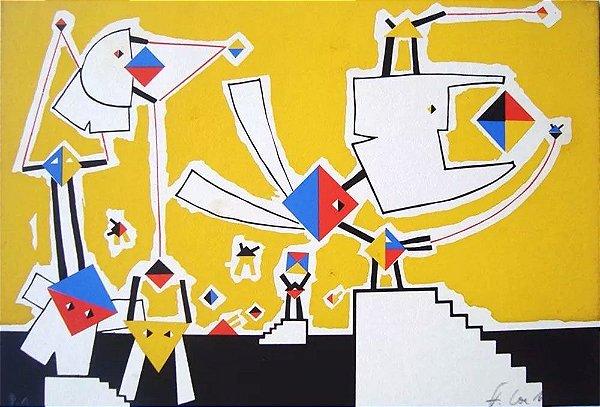 Fernando Coelho - Arte em Gravura Original, Prova de Artista, Assinada