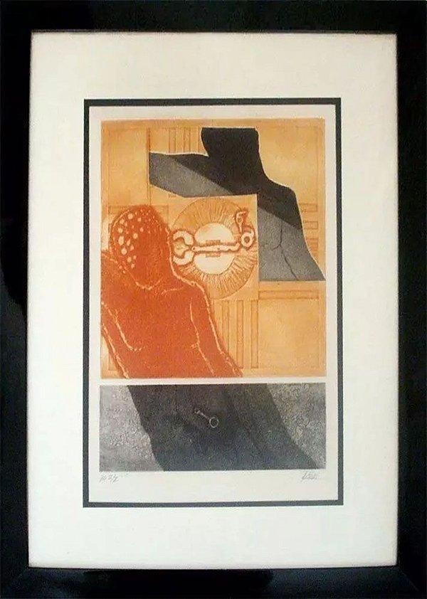 Romildo Paiva - Quadro, Arte em Gravura Original, Prova de Artista, Assinada