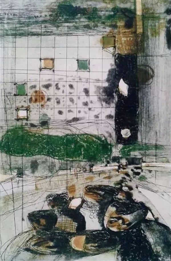 João Rossi -  Arte em Gravura Original Assinada, Datada de 1986