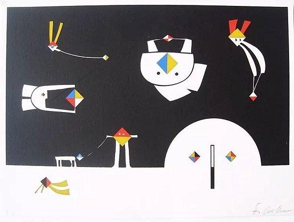 Fernando Coelho - Arte em Gravura, Prova de Artista, Assinada