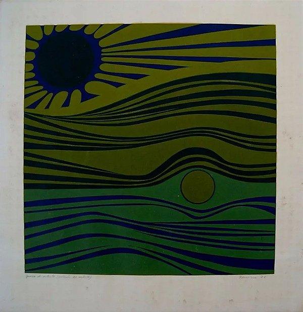 Renina Katz - Arte em Gravura, Prova de Artista, Assinada, Datada de 1971