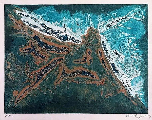Isabel Pons -  Arte em Gravura Original, Prova de Artista, Assinada