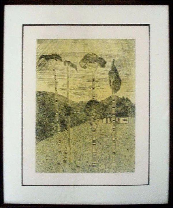 Francisco Rebolo Gonsales - Quadro, Arte em Gravura, Prova de Artista, Assinada