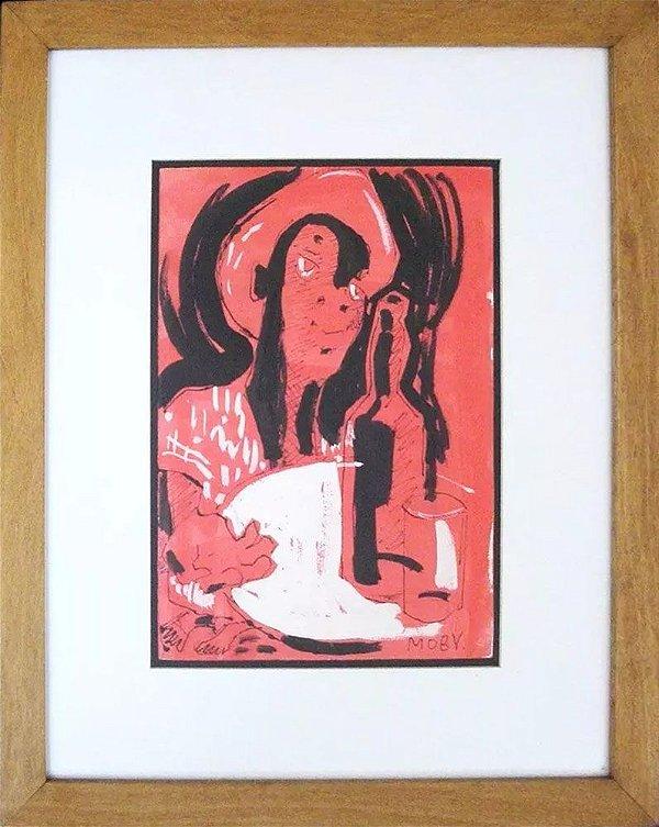 Moby, Mogens Osterbye - Quadro, Arte em Gravura Assinada, Emoldurada