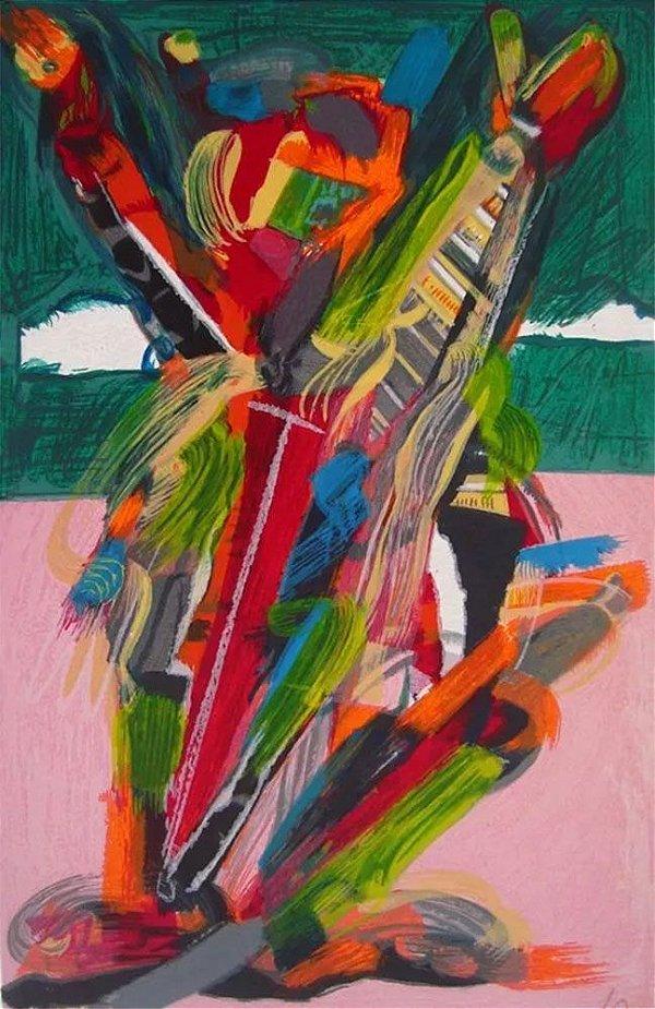 Ivald Granato Filho -  Arte em Gravura Assinada, Abstrato