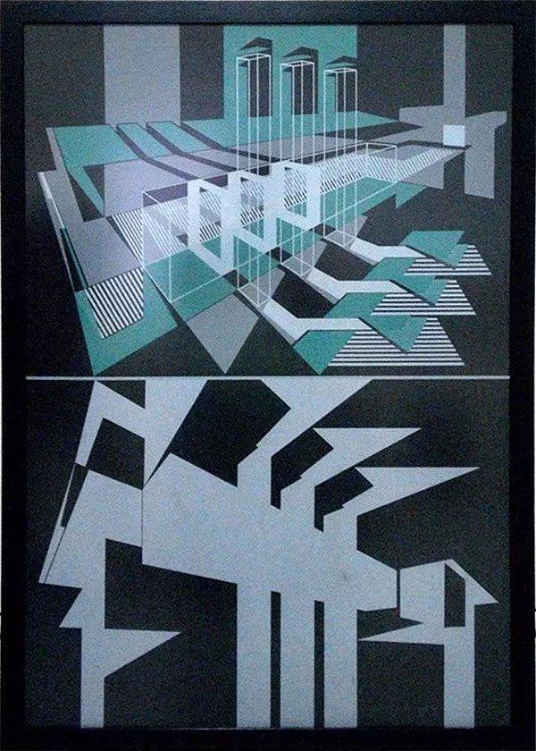 Antonio Lizárraga - Quadro, Arte em Gravura Assinada, Arte Geométrica