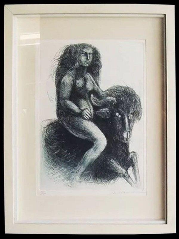 Marcelo Grassmann - Quadro, Arte em Gravura Original, Assinada e Numerada, Emoldurada