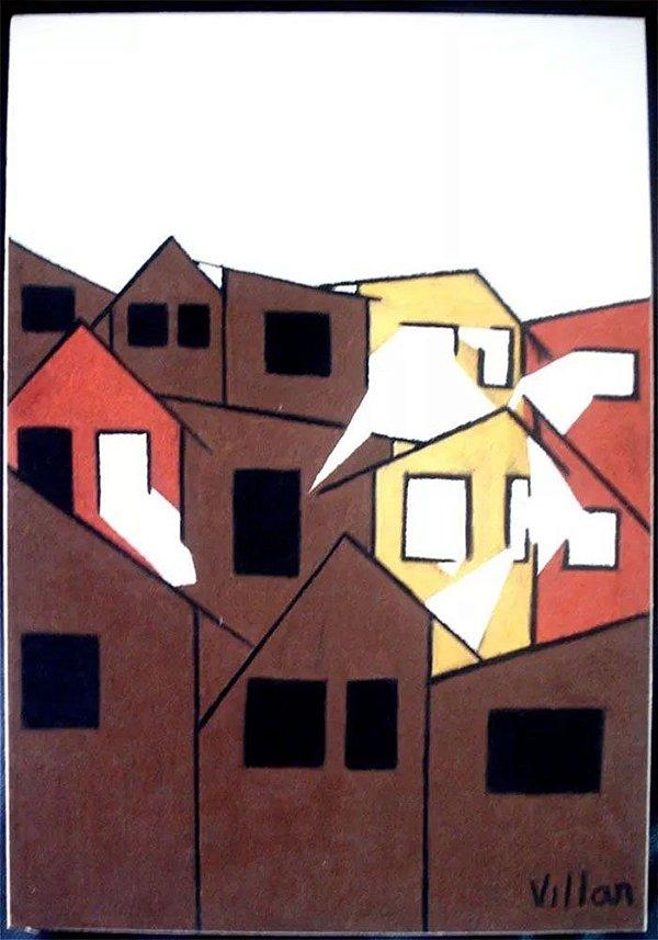 Carlos Villar -  Arte em Desenho Original, Crayon Seco