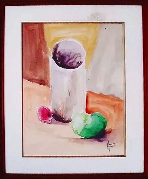 Marcello Vitorino - Quadro, Arte em Pintura Original Assinada, Aquarela sobre Papel