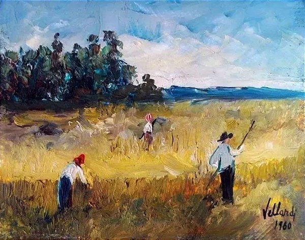 Vellardi - Quadro, Arte em Pintura, Óleo sobre Eucatex, de 1980