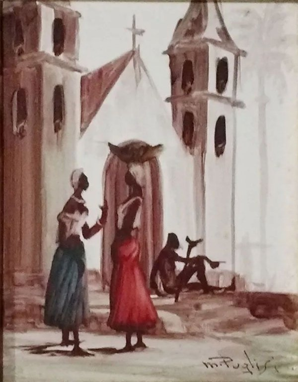 M. Puglisi - Quadro, Arte em Pintura, Técnica Mista sobre Madeira