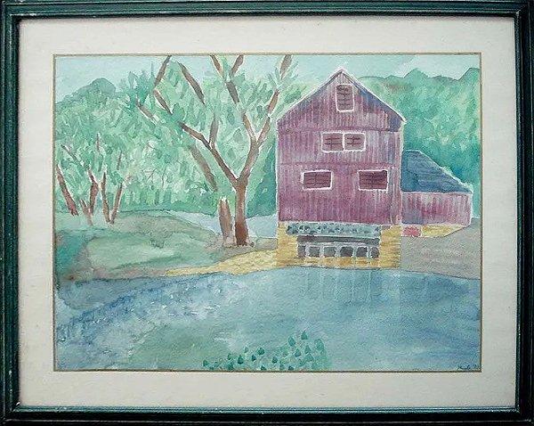 Paula - Quadro, Arte em Pintura, Aquarela sobre Papel, Assinada, Datada de 1992