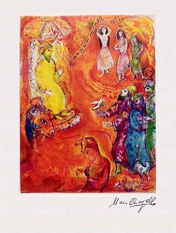 Marc Chagall - Quadro, Arte em Gravura, Litografia Edição Autorizada