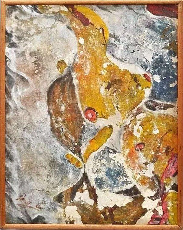 Peng Bo - Quadro, Arte em Técnica Mista, Colagem Sobre Tecido, de 2009