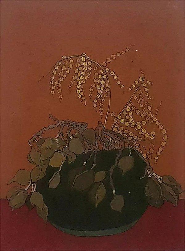 Carlos Lima - Quadro, Arte em Técnica Mista sobre Eucatex, Natureza Morta