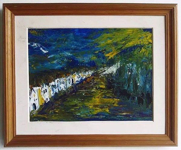 Manel - Quadro, Arte em Pintura, Óleo sobre Tela, Assinado, Abstrato
