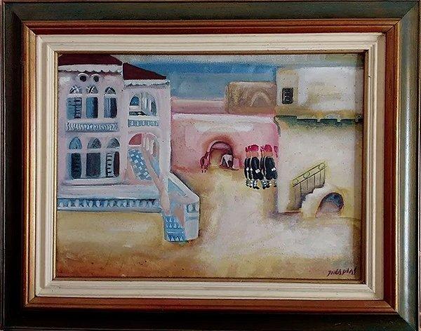 Quadro, Arte em Pintura, Óleo sobre Tela, Assinada, Mediterrâneo