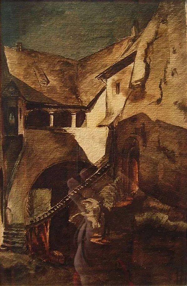 Quadro, Arte em Pintura, Aquarela Original, Monogramada, Paisagem