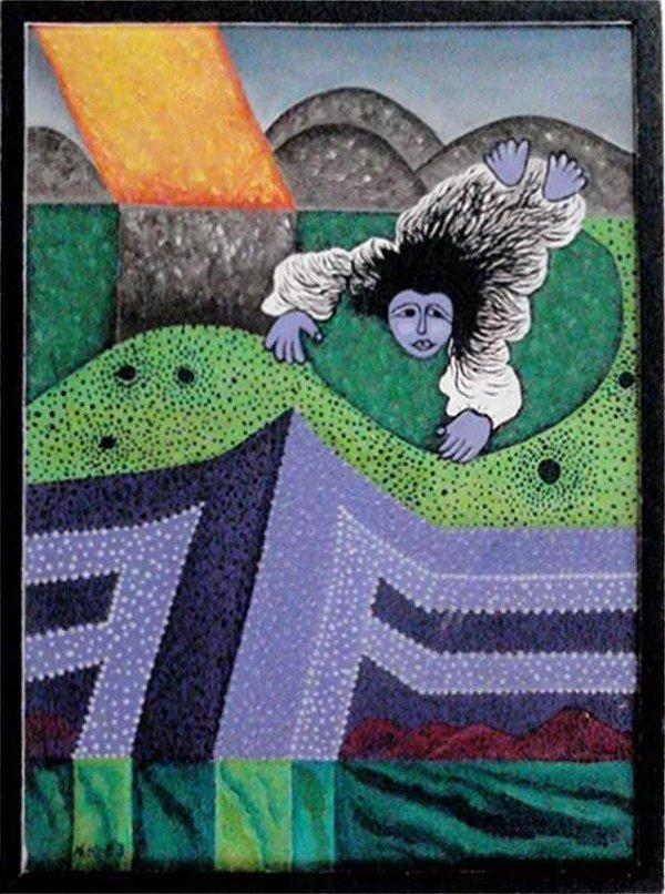 N. Matsuo - Quadro,  Arte em Pintura, Óleo s/ Tela, Eram os Deuses Astronautas?