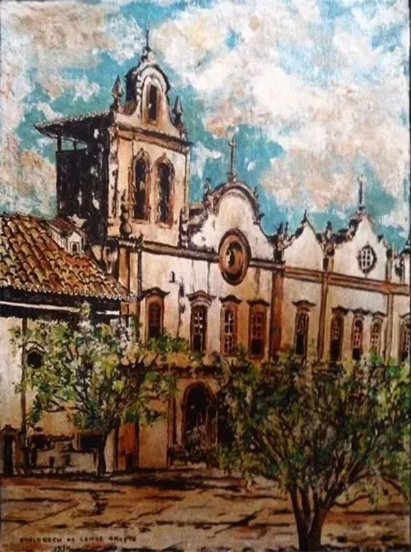Antonio E. Schlobach de Lemos Britto - Quadro, Arte em Pintura, Óleo s/ Madeira, de 1974