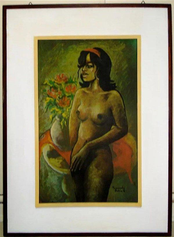 Kennedy Bahia - Quadro, Arte em Pintura Assinada, Gicle, Mulata