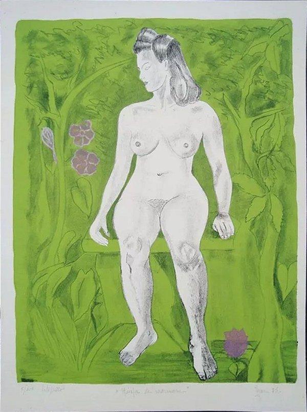 Izar Berlinck - Quadro, Arte em Gravura, Xilogravura / Litogravura Assinada, Ninfa de Mármore