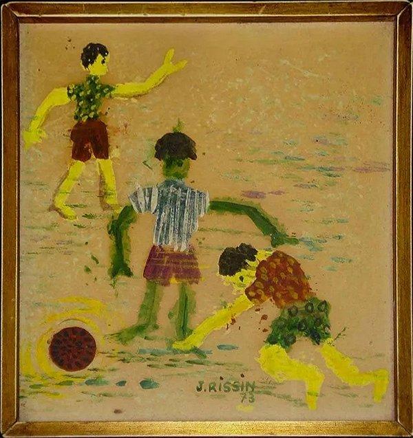 Jacob Kopel Rissin - Quadro, Arte em Pintura, Óleo sobre Eucatex, Futebol