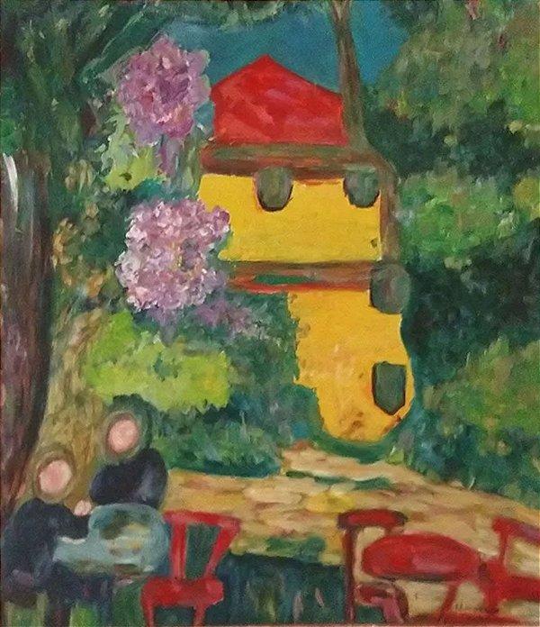 U. Heinrich - Quadro, Arte em Pintura, Óleo sobre Tela, Estilo Fauvista, Paisagem do Cotidiano