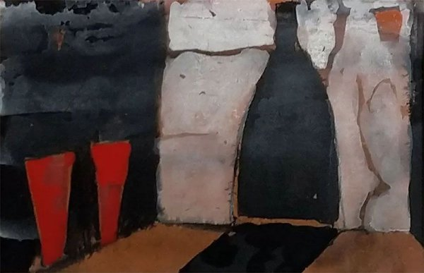Sendin, Armando Moral - Quadro, Arte em Pintura, Técnica Mista sobre Papel