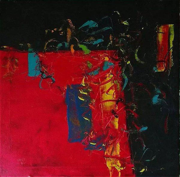 James Yoko - Quadro, Arte em Pintura, Abstrato, Acrílico sobre Tela Assinado, de 1986