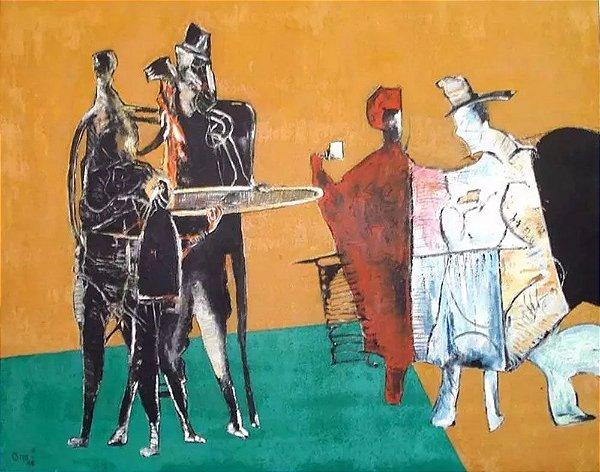 Otto - Quadro, Arte em Pintura, Óleo s/ Tela, Assinado