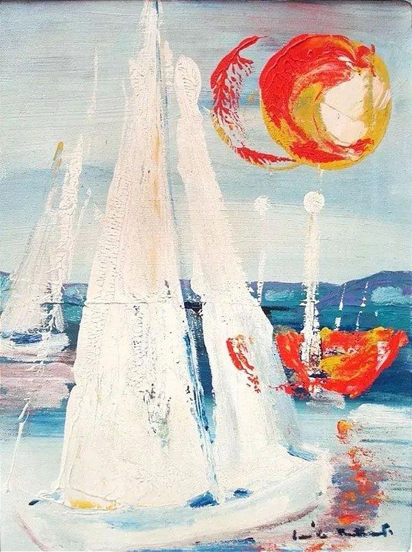 Émile Tuchband - Arte em Pintura, Óleo sobre Tela Assinado, Original