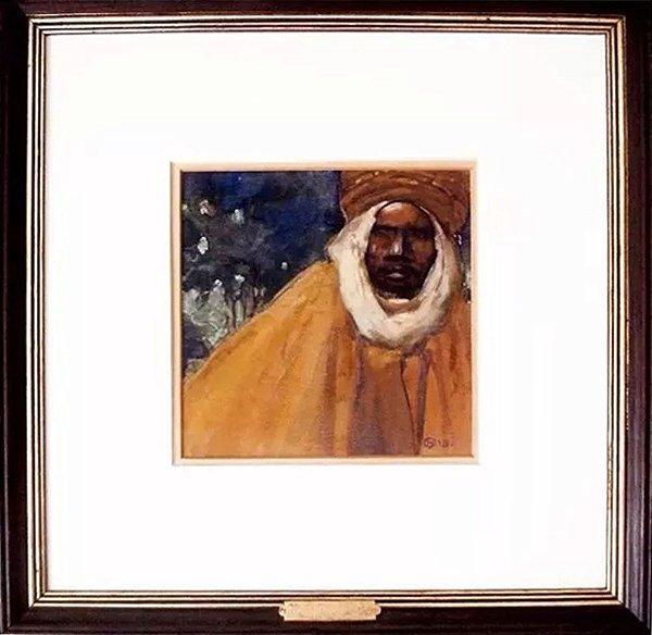 Henri Deluermoz - Quadro, Arte em Pintura Assinado, Original, Técnica Mista sobre Papel, Figurativo Árabe